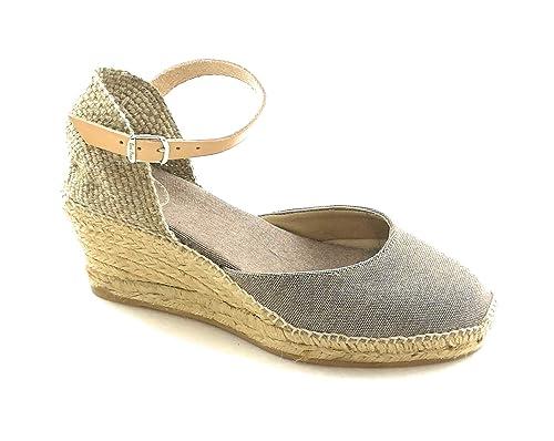 Toni Pons - Alpargatas de Lona para Mujer Beige Topo: Amazon.es: Zapatos y complementos