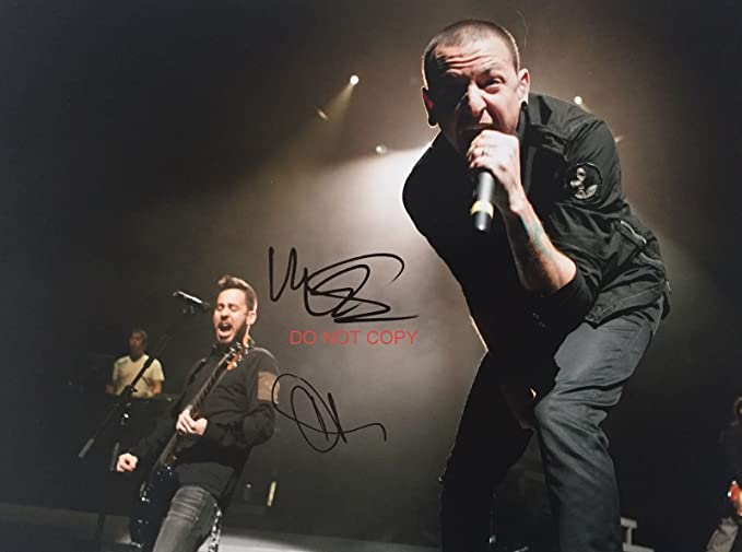 Chester Bennington Mike Shinoda Of Linkin Park Reprint Signed Photo