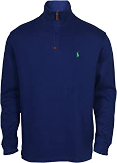 0e85149e9fe5 Polo Ralph Lauren Mens Half Zip French Rib Cotton Sweater (XX-Large ...