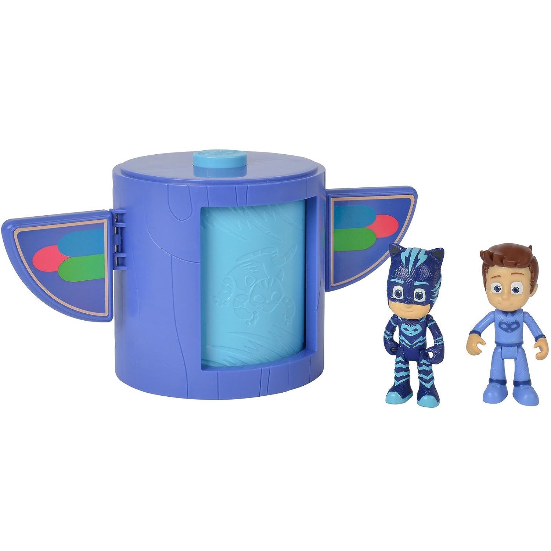 #0107 PJ Masks Verwandlungs-Station beweglicher Catboy und Connor Inklusive • Mask Kinder Spielzeug Figuren Set
