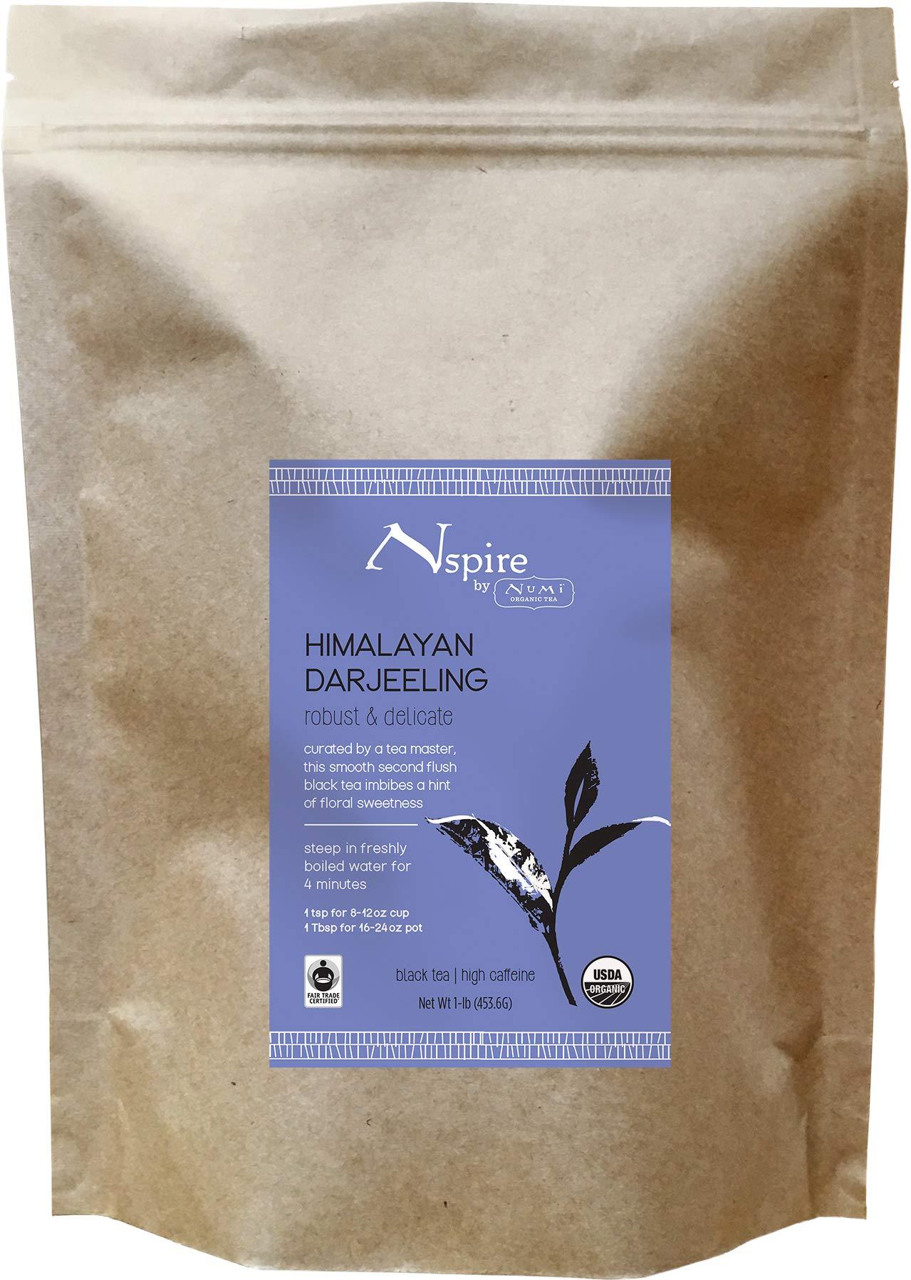 Nspire by Numi Organic Tea Himalayan Darjeeling, 16 Ounce Pouch, Loose Leaf Black Tea