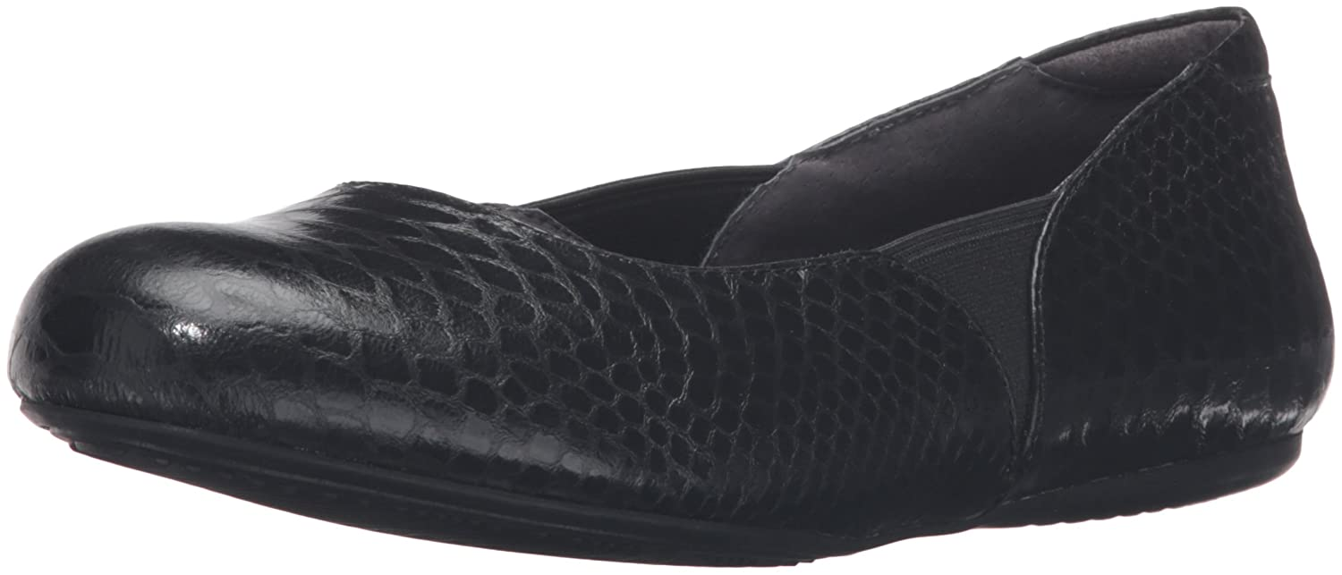 SoftWalk Women's Norwich Ballet Flat B019QM7H1W 6 N US|Black Snake