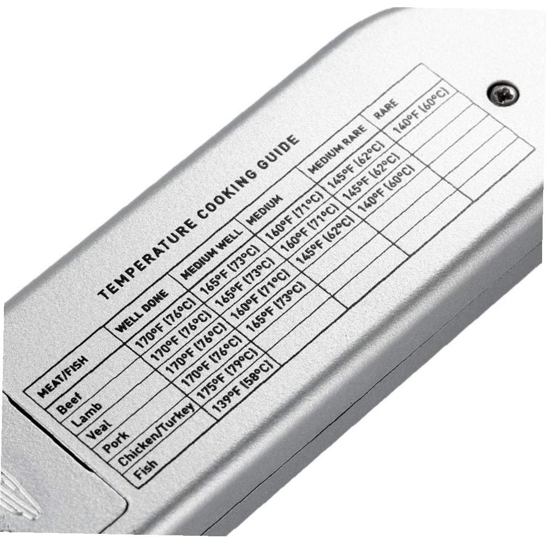 TS-BN61 Digital-Instant-Lesen-Fleisch-Thermometer Mit Folding Probe Hintergrundbeleuchtung Funktion Temperatur Leitfaden F/ür Die K/üche Essen S/ü/ßigkeiten Barbecue Grill Kochen Silber