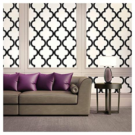 Devine Color Cable Stitch Wallpaper Black White