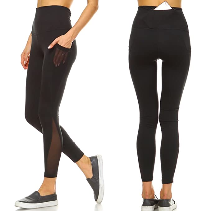 Amazon.com: Mono B Yoga Pants Pockets High Waist Workout ...