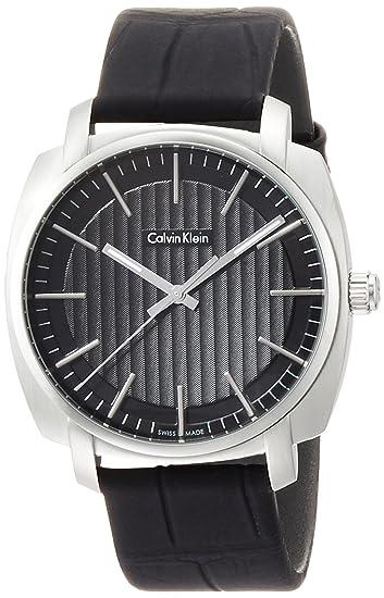 Calvin Klein Reloj Analogico para Hombre de Cuarzo con Correa en Caucho K5M311C1: Amazon.es: Relojes