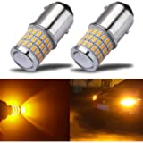 iBrightstar Newest 9-30V Super Bright Low Power 1157 2057 2357 7528 BAY15D LED Bulbs with Projector replacement for Turn…