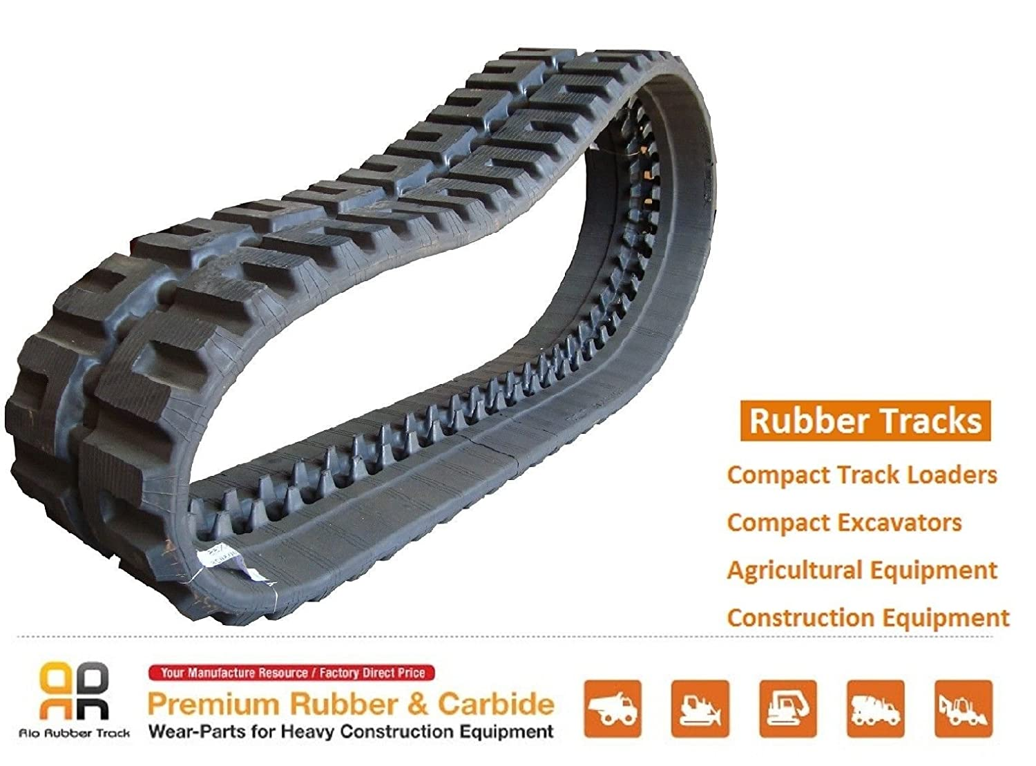 Amazon.com: Rubber Track - 450x86x63 LOEGERING VTS CAT 272C Mustang 2109  Skid Steer: Automotive