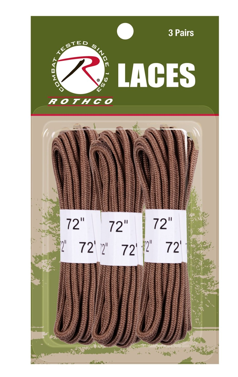 Rothco 72 Boot Laces - 3 Pack, Coyote Brown 6017