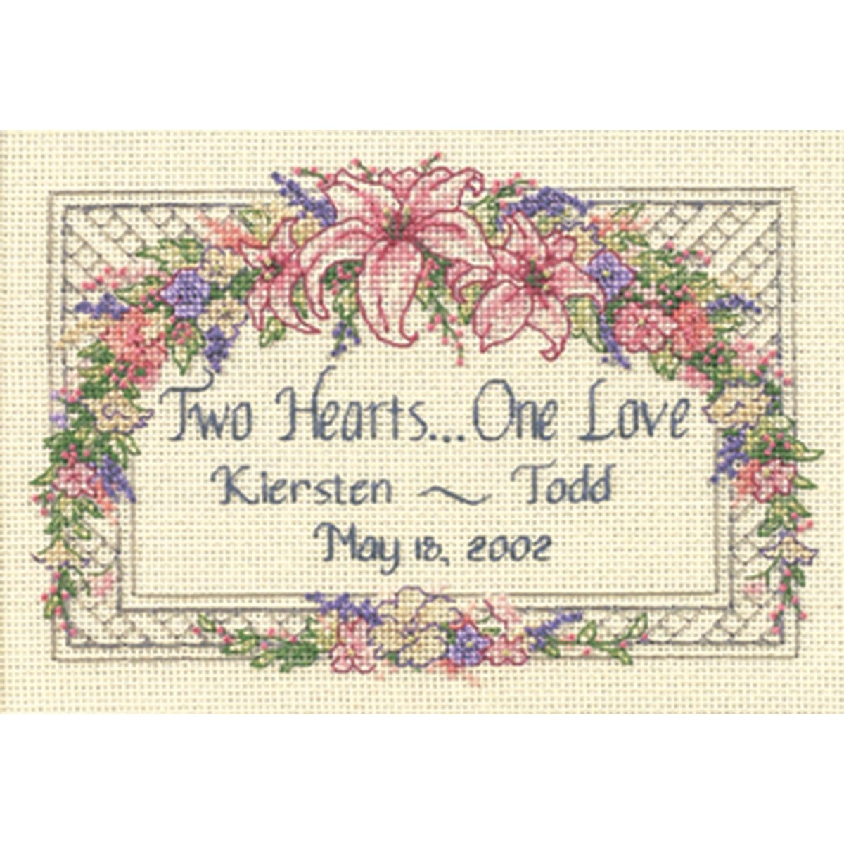 Dimensions Needlecrafts 6897 Counted Cross Stitch, One Love Wedding Record DiMarzio 06897
