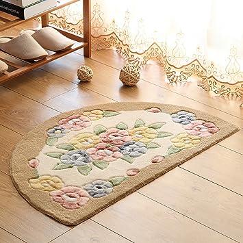 LXLA Halbrunde Teppich Küche Schlafzimmer Fußbett Kreative ...