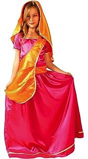 César - Disfraz de bollywood para niña, talla 8-10 años (F233-