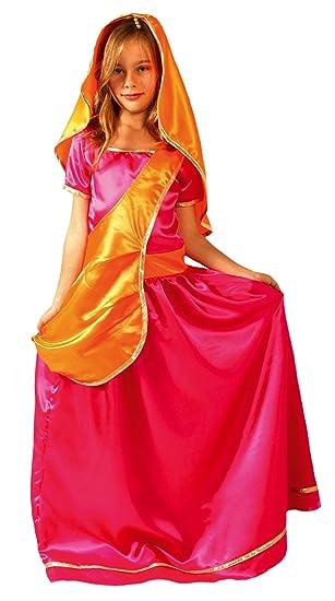 César - Disfraz de sevillana para niña, talla 5-7 años (F233-002)