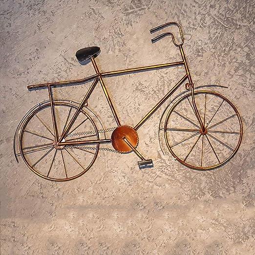 QBZS Decoración de Pared Decoración de Pared de Hierro Forjado - Accesorios de Bicicleta for Colgar en la Pared del Comedor - tapices de Barra 90.5 * 6 * 59cm (Color : B): Amazon.es: Hogar