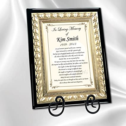 Amazon Personalized Sympathy Memorial and Bereavement Poetry Beauteous Loss Of A Family Member Poem