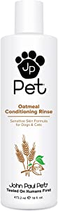 John Paul Pet Oatmeal Conditioning Rinse for Dogs and Cats, Soothing Sensitive Skin Formula, Moisturizes and Revitalizes Dry Skin and Fur