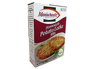 Manischewitz Homestyle Potato Latke Pancake Mix, Passover, Low Sodium, 6-ounce (Pack of 3)