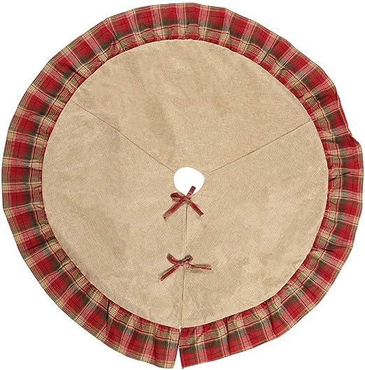 Falda de árbol de Navidad de diseño a cuadros de 48 pulgadas de ...