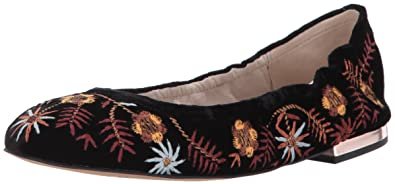 888bfd2bc29a5 Sam Edelman Women s Farrow 2 Ballet Flat Black Velvet 5 Medium US