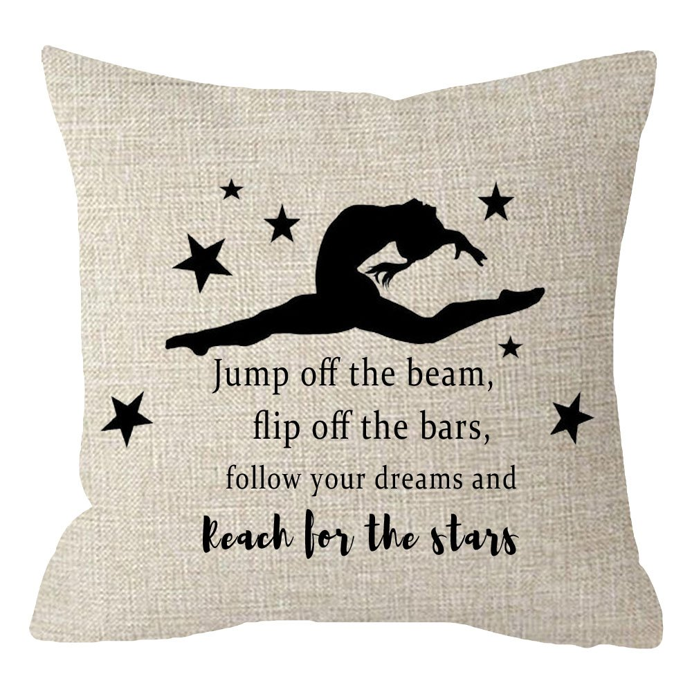 07cfa7025dc ... The Beam flip Off The Bars Follow Your Dreams Couch Sofa Decorative Body  Beige Cotton Linen Throw Pillow Case Cushion Cover Square 18 inches. by  ITFRO