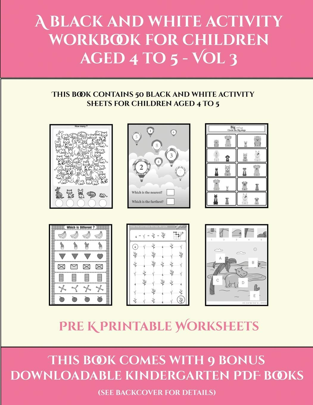 - Buy Pre K Printable Worksheets (A Black And White Activity