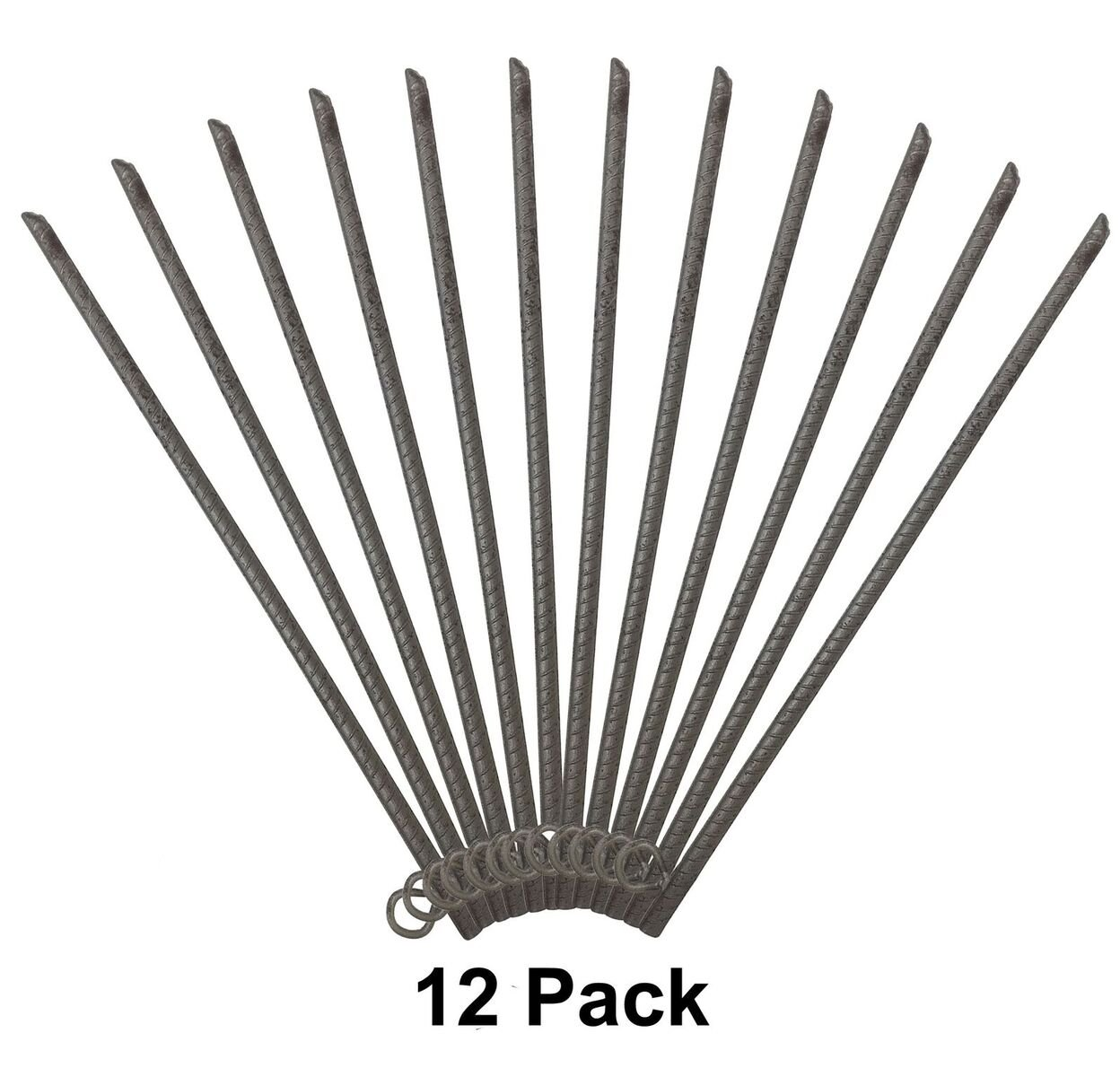 EZ Travel Collection 18'' Metal Rebar Stake with Loop (12) by EZ Travel Collection