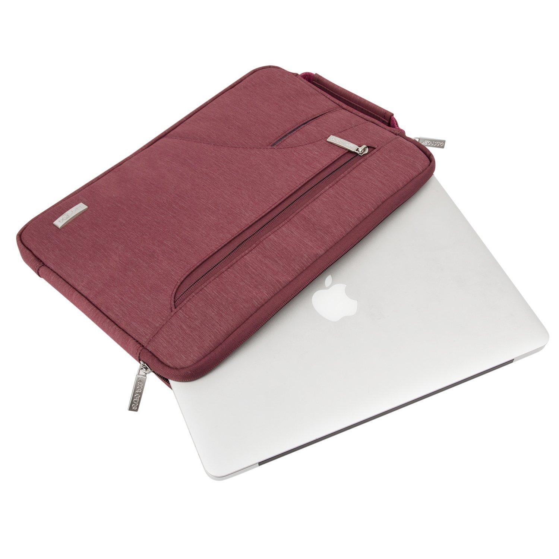 Gris MOSISO 14-15 Pouces Housse Compatible MacBook Pro 15 Touch Bar A1990 A1707 2018 2017 2016//14 Pouces ThinkPad Chromebook,Polyester Hydrofuge Ultraportable Sac Bandouli/ère