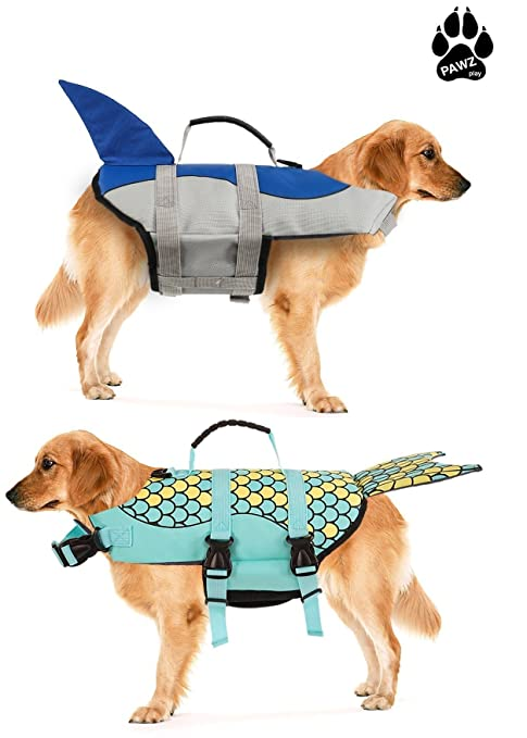 786018dabe9fc Amazon.com : Best Dog Beach & Pool Safety Life Jacket Mermaid S by ...