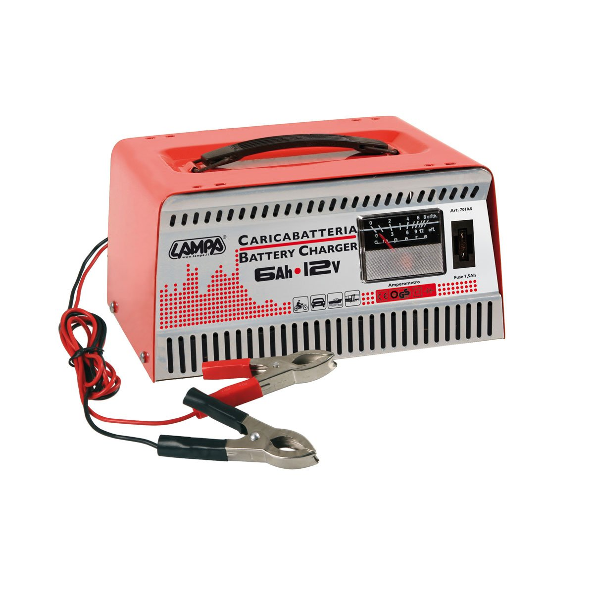 Pilot LA_70105 Chargeur de batterie 12 V, 6 Ah