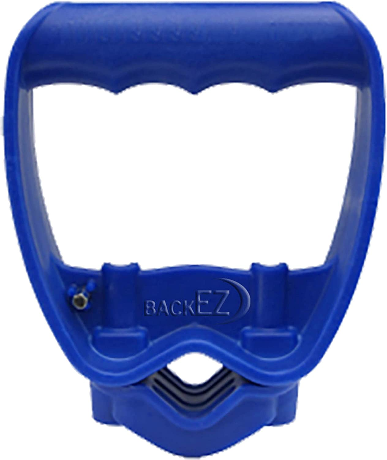 BackEZ Back-Saving Tool Handle Attachment, Labor-Saving Ergonomic Shovel or Rake Handle, Add-on Universal Fitting Grip, Quick Installation, Blue