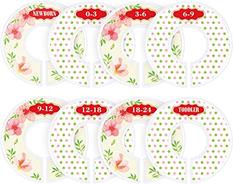 ilauke 12 Pack Baby Wardrobe Dividers Plastic Nursery Closet Dividers Clothing Rack Dividers for Organize Babys Clothes White