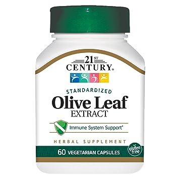 Amazon com: 21st Century Olive Leaf Extract Veg Capsules, 60