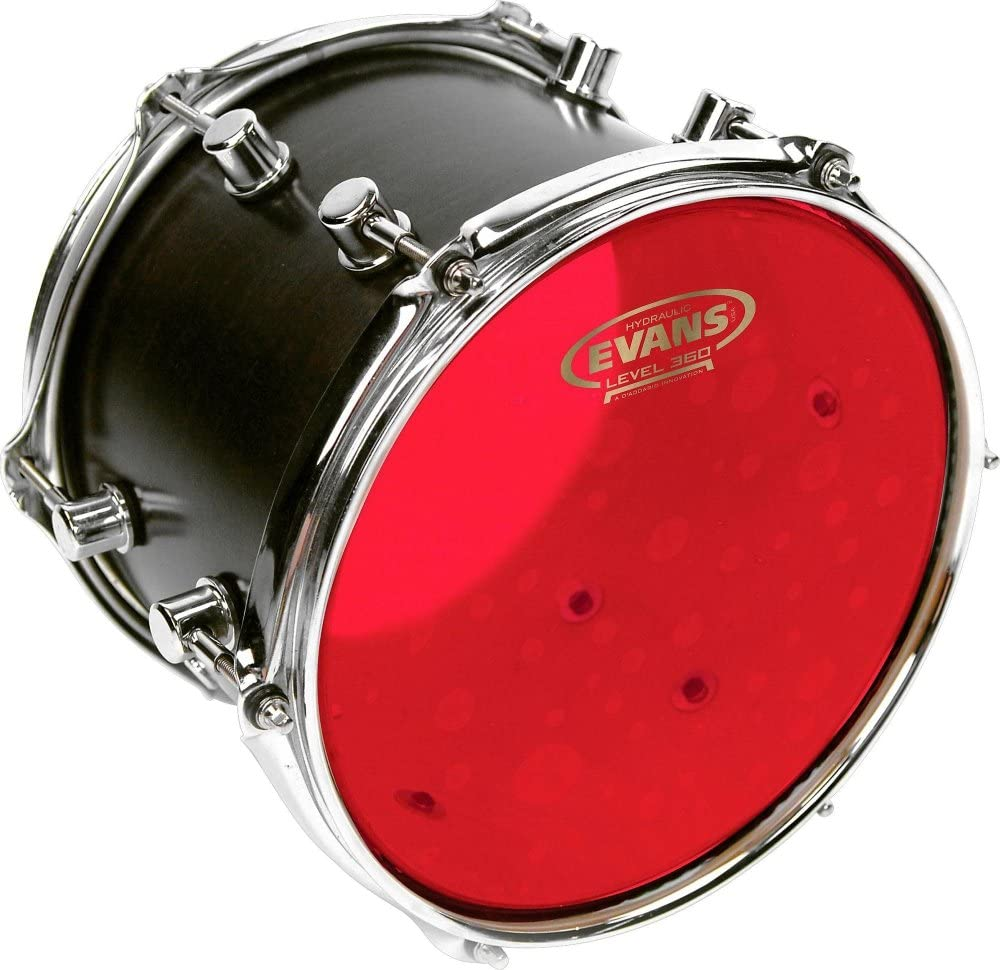 "With 14/"" UV1 Coated Snare Batter Evans Hydraulic Red Fusion Pack 10/"", 12/"", 14/"""