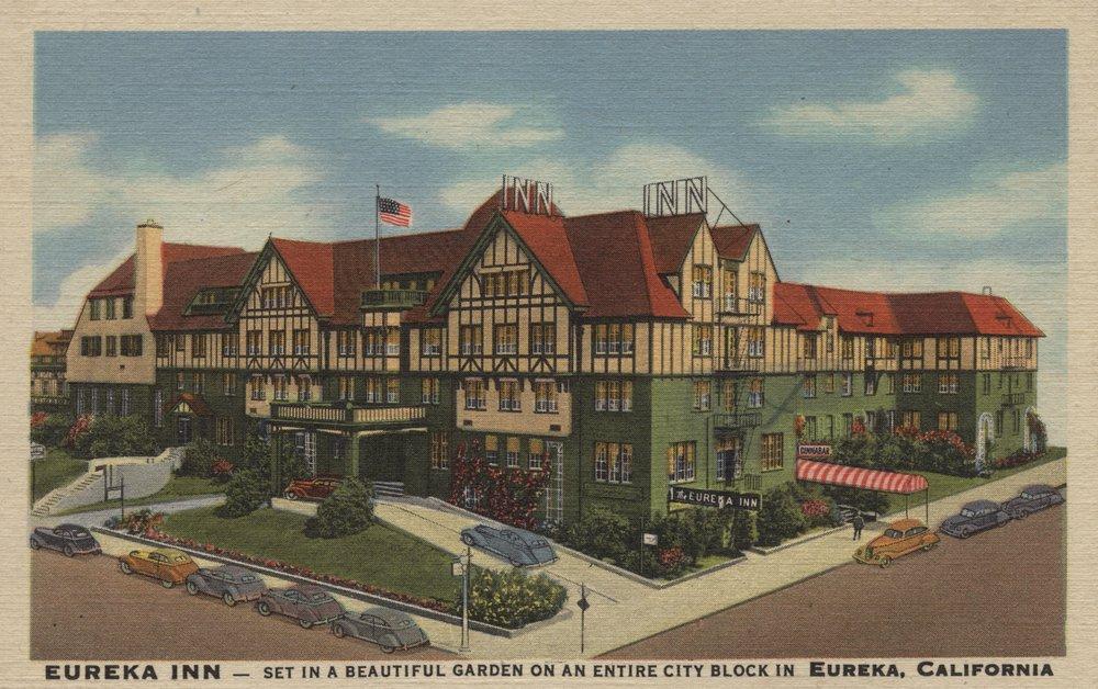 Eureka Inn Hotel View in Eureka, California (36x54 Giclee Gallery Print, Wall Decor Travel Poster)