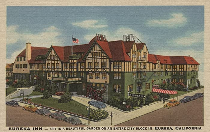 Eureka Inn Hotel View in Eureka, California (36x54 Giclee Gallery Print, Wall Decor Travel Poster)