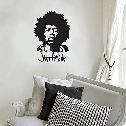 Amazon.com: kiskistonite Jimi Hendrix Decal Sticker, Wall Art Decal ...