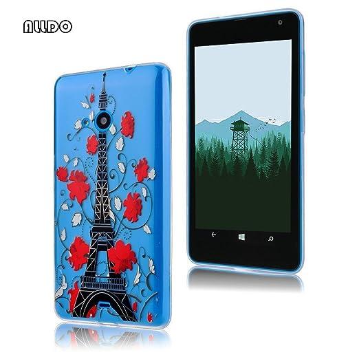 8 opinioni per AllDo Custodia in Silicone per Microsoft Nokia Lumia 535 Cover Gomma TPU