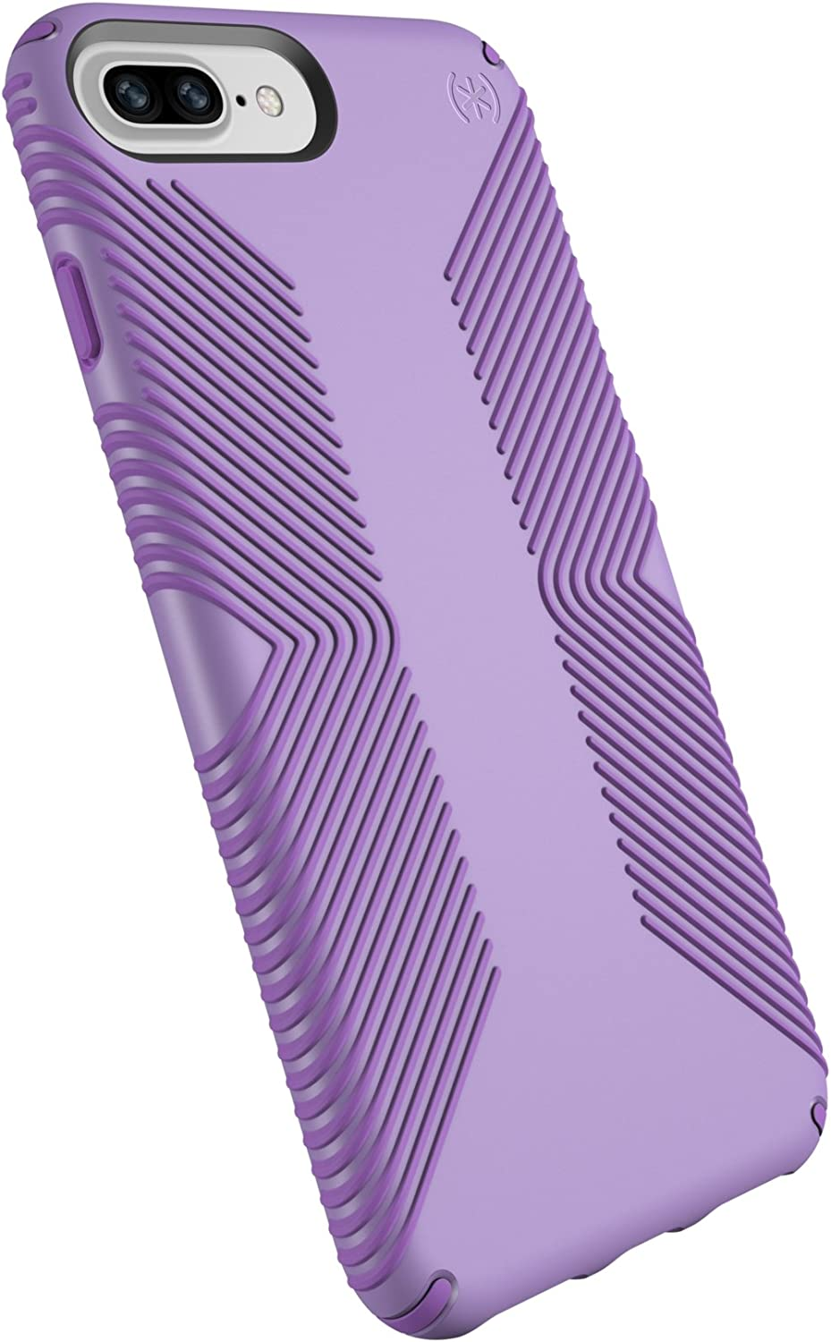 Speck Products Presidio Grip Case for iPhone 8 Plus (Also fits 7 Plus and 6S Plus/6 Plus), Aster Purple/Heliotrope Purple