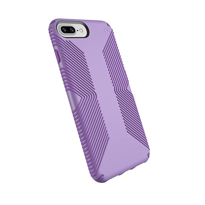 buy online 4bd35 7ab6d Speck Products Presidio Grip Case for iPhone 8 Plus (Also fits 7 Plus and  6S Plus/6 Plus), Aster Purple/Heliotrope Purple