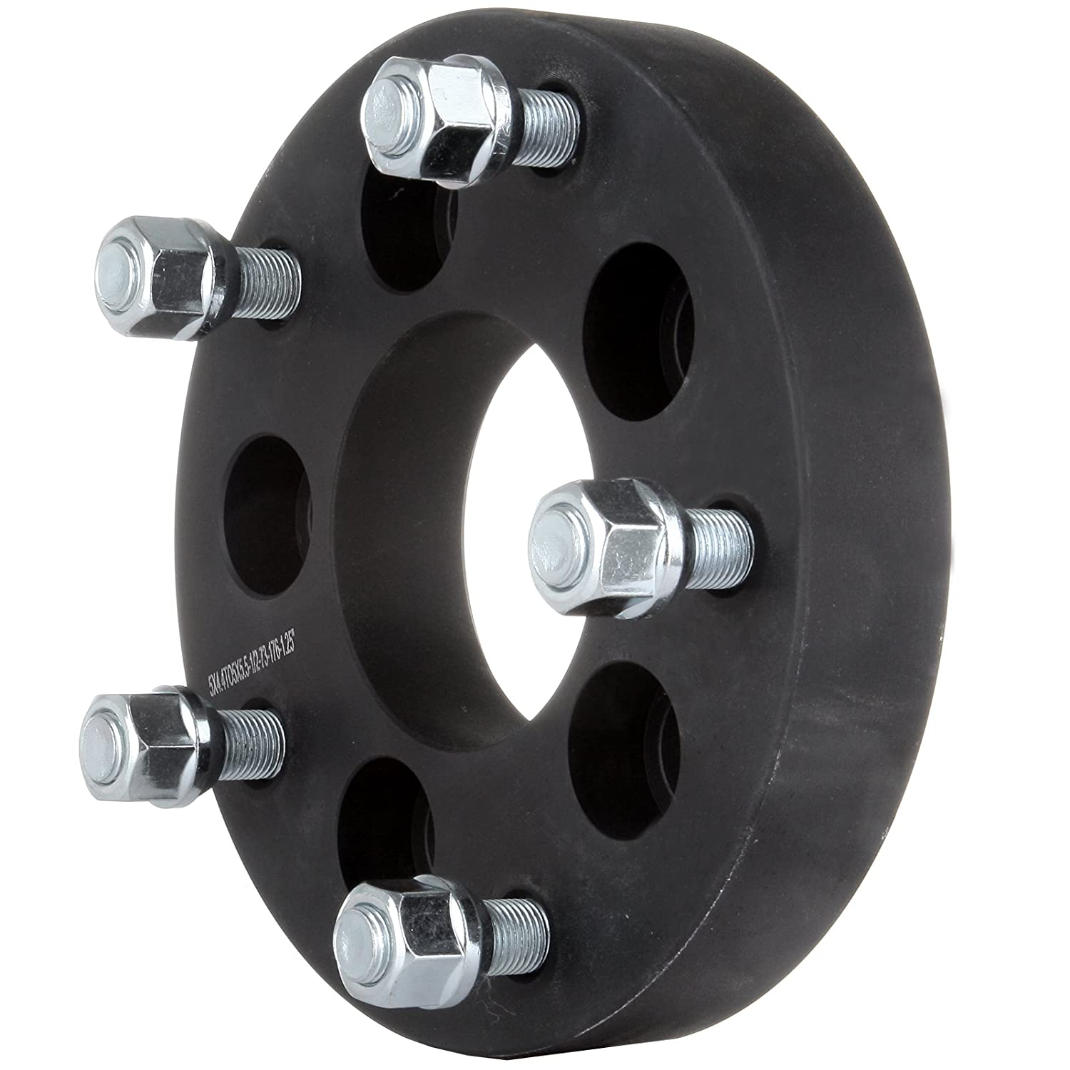 1//2 Studs 1.25 5x4.5 to 5x5.5 Black Wheel Adapters Scitoo Set of 4 5Lug Spacers For 1996-2006 Mercury Mountaineer Mazda B4000 Jeep Wrangler Ford Mustang Crown Victoria