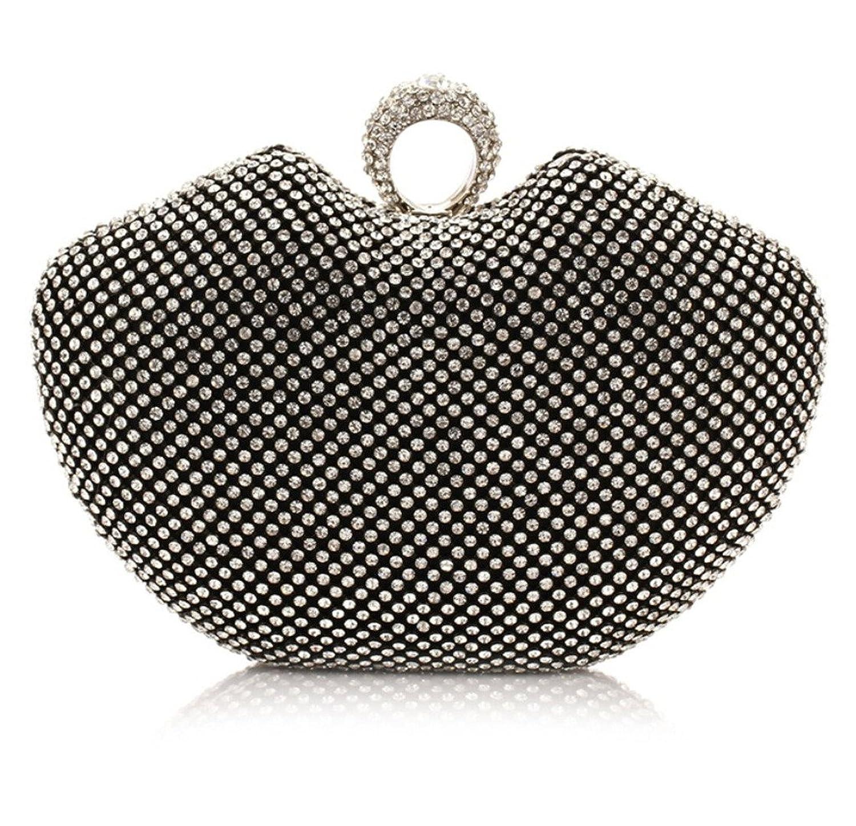 Abless Womens Glamour Elegant Evening Clutch Fashion Purse Chain Handbag - SK842