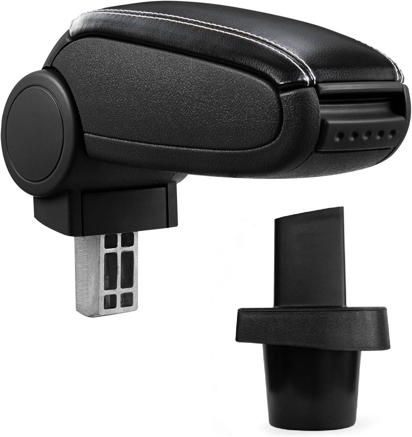 Mittelarmlehne Mittel Armlehne Mit Klappbarem Staufach Mittel Konsole Leder Fahrzeugspezifisch Farbe Schwarz Auto