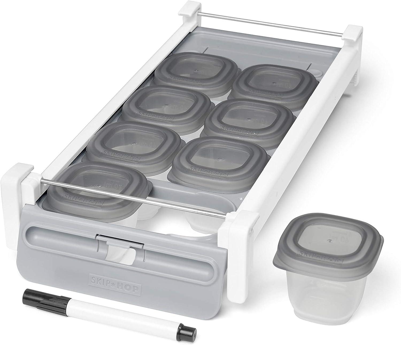 Skip Hop Baby Fresh Feeding: Easy-Store Sliding Tray Fridge Food Storage Set