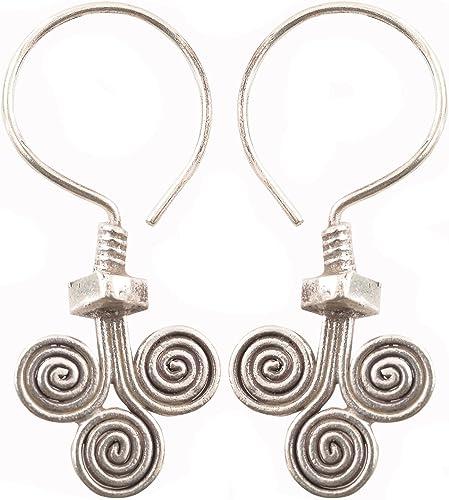 Earrings Pure Silver Thai Karen Hill Tribe