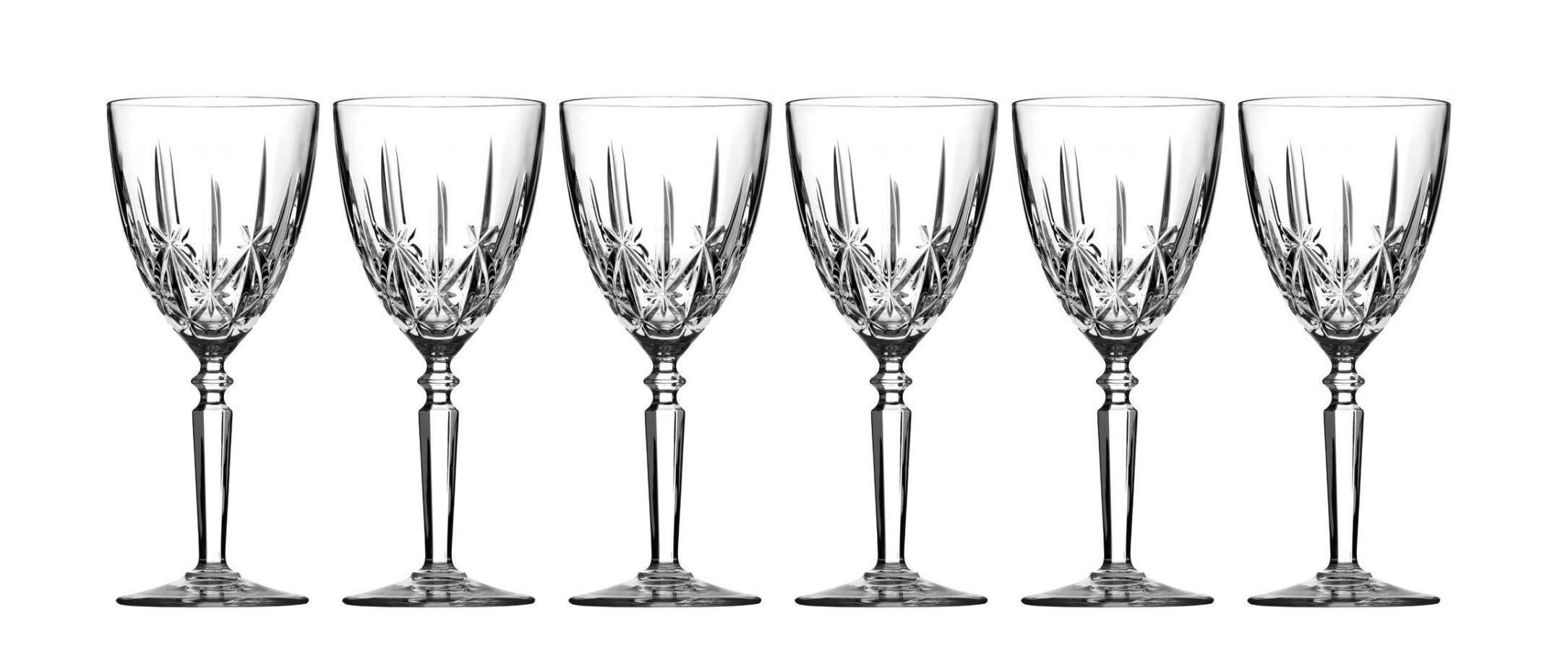 Liquor Glass - Set of 6 Glasses - By Barski - European Quality - Crystal - Footed Liqueur/Shot Glass Set - 3 ounces - Gift Boxed - Made in Europe