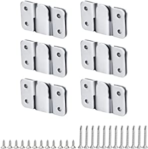 Flush Mount Bracket, Interlocking Photo Frame Hook 56 x 36mm Heavy Duty Picture Hangers, Interlock Bracket Furniture Connector, Sectional Couch Connectors, Headboard Wall Mount Hardware (6 Pairs))
