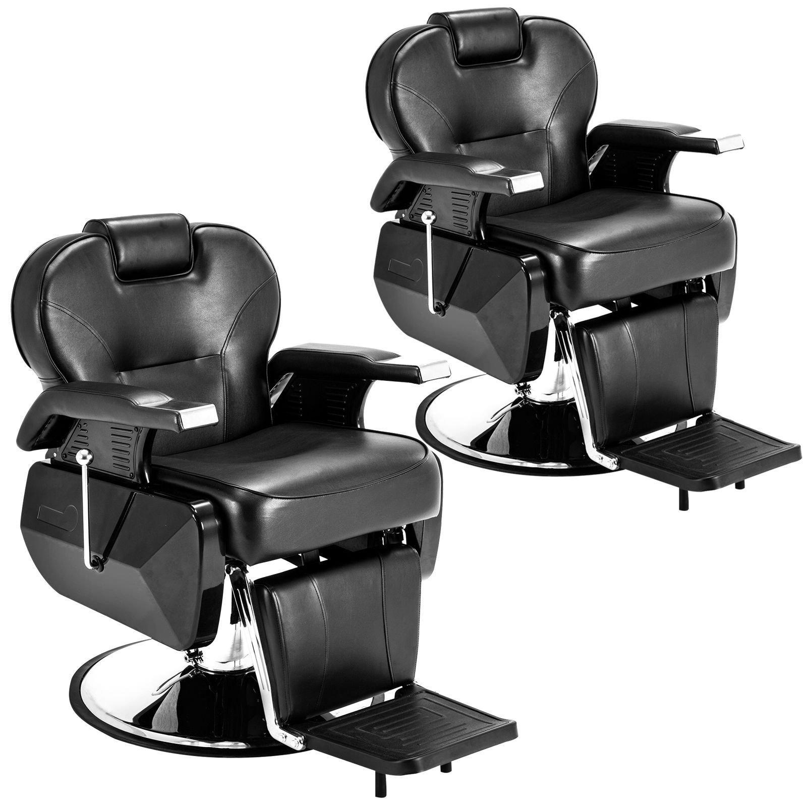 Set of 2 Black All Purpose Hydraulic Recline Barber Chair Salon Beauty Spa Shampoo StylingChair