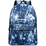 GIM Unisex Galaxy School Backpack Canvas Rucksack Laptop Book Bag Satchel Hiking Bag