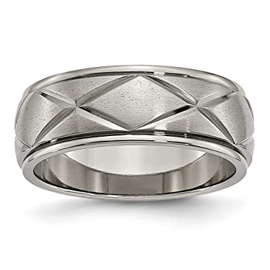 Crossed Wedding Bands.Jewelry Stores Network Mens 8mm Titanium X Crossed Lines Design