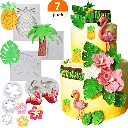 Amazon Com Set Of 7 Jevenis Tropical Theme Cake Fondant Mold